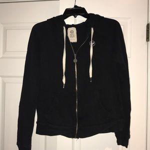 Roxy black zip up hoodie